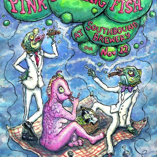 Pink Talking Fish Poster