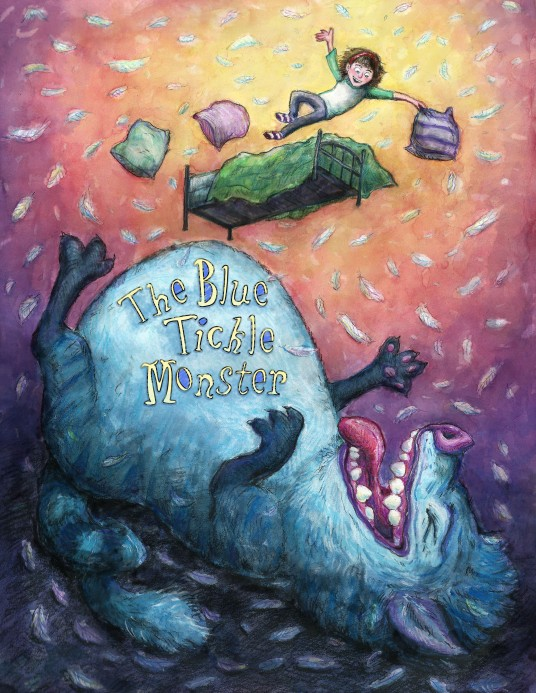 The Blue Tickle Monster Children's book cover