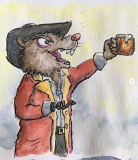 Captain Vole toasts 1
