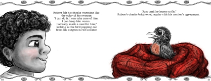 """Robert's Red Sweater"" pages 10 and 11"